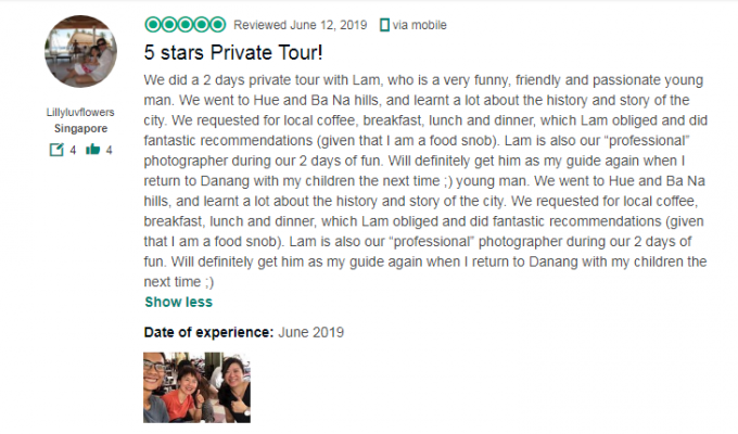 5 stars Private Tour!