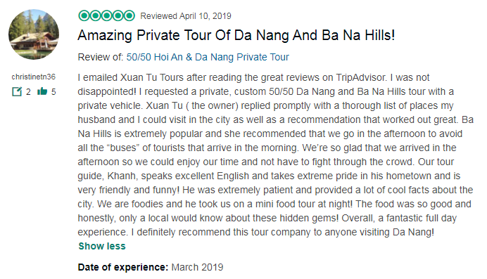 Amazing Private Tour Of Da Nang And Ba Na Hills!