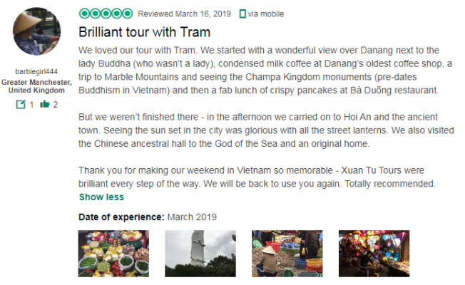 Brilliant tour with Tram