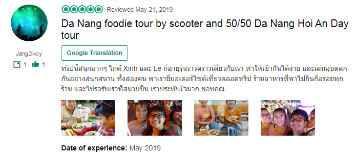 Da Nang foodie tour by scooter and 50/50 Da Nang Hoi An Day tour