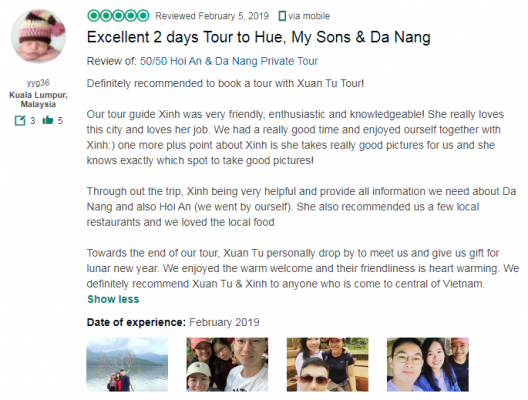 Excellent 2 days Tour to Hue, My Sons & Da Nang