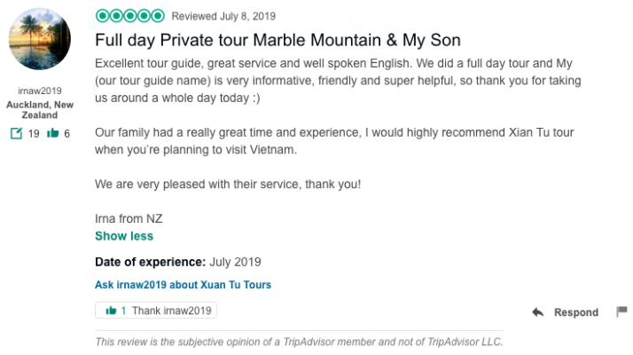 Full day Private tour Marble Mountain & My Son