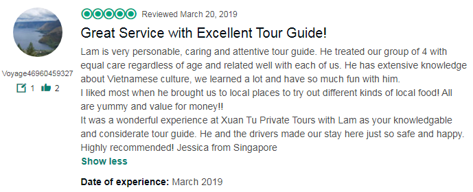 Great Service with Excellent Tour Guide!