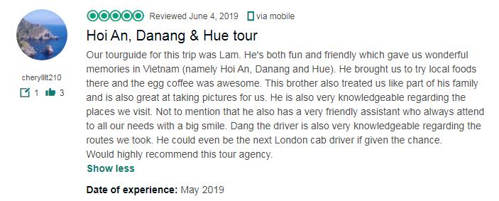 Hoi An, Danang & Hue tour