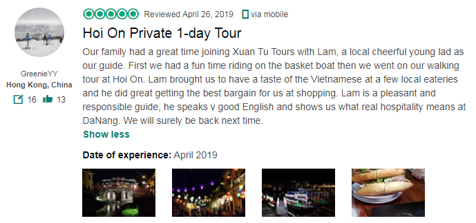 Hoi On Private 1-day Tour