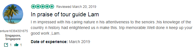 In praise of tour guide Lam