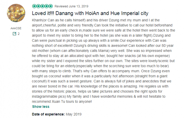 Loved it!!! Danang with HoiAn and Hue Imperial city