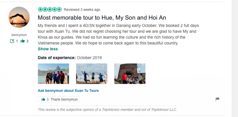 Most memorable tour to Hue, My Son and Hoi An