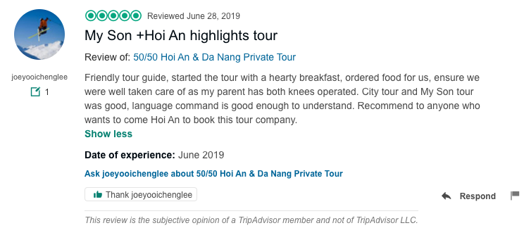 My Son +Hoi An highlights tour