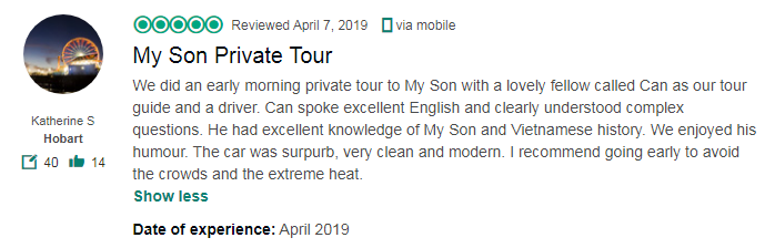 My Son Private Tour