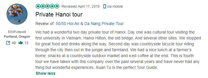 Private Hanoi tour