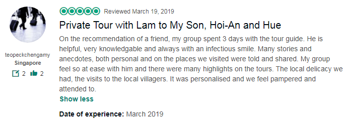 Private Tour with Lam to My Son, Hoi-An and Hue