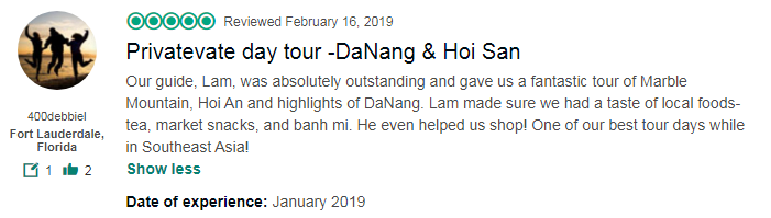 Privatevate day tour -DaNang & Hoi San