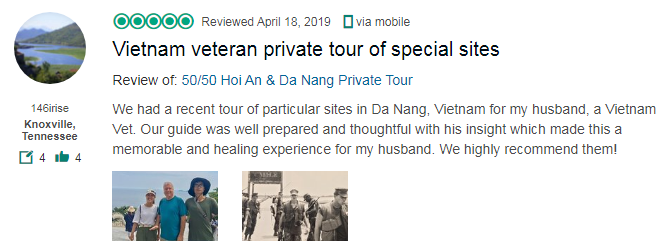 Vietnam veteran private tour of special sites
