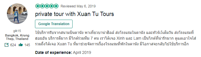 private tour with Xuan Tu Tours