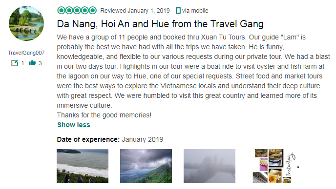 Da Nang, Hoi An and Hue from the Travel Gang