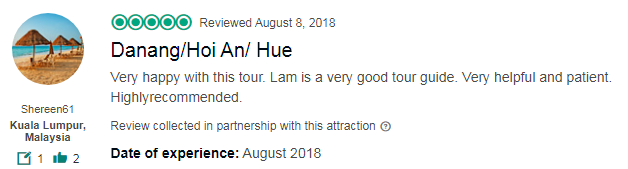 Danang/Hoi An/ Hue