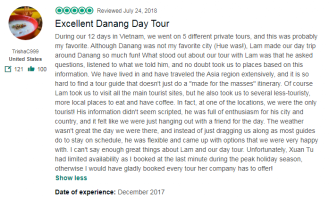 Excellent Danang Day Tour