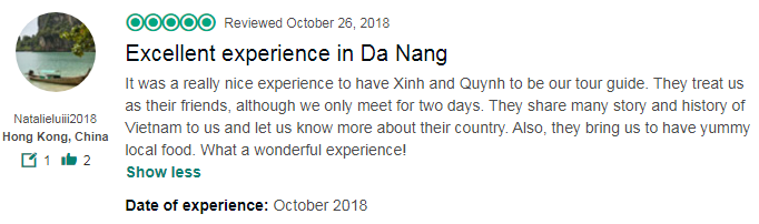 Excellent experience in Da Nang