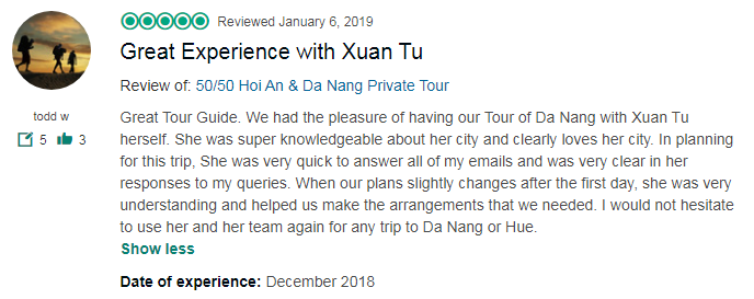 Great Experience with Xuan Tu