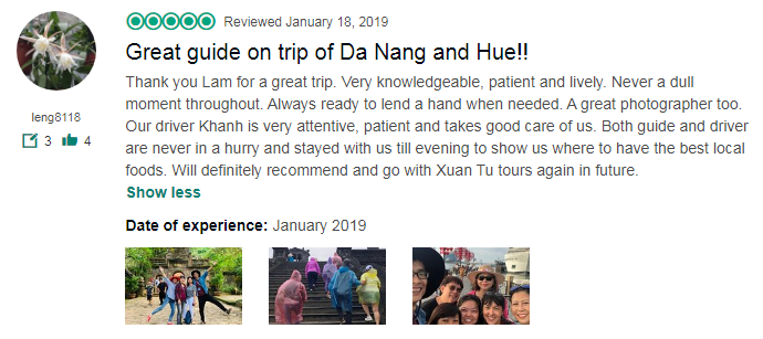 Great guide on trip of Da Nang and Hue!!