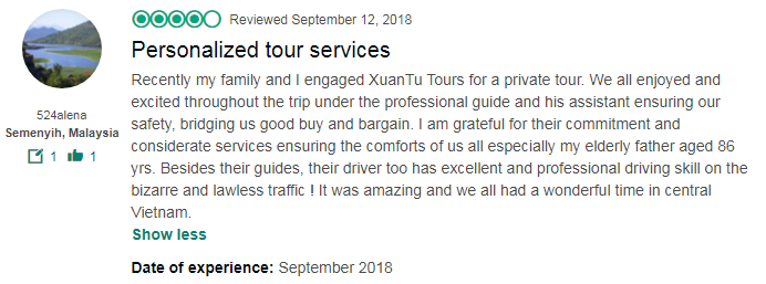Personalized tour services