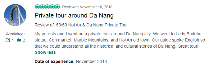 Private tour around Da Nang