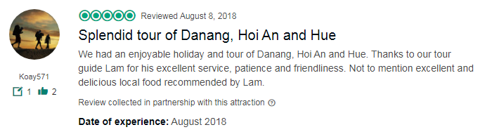 Splendid tour of Danang, Hoi An and Hue