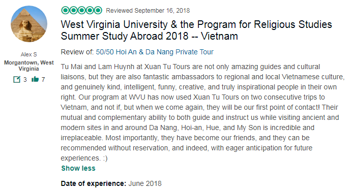 West Virginia University & the Program for Religious Studies Summer Study Abroad 2018 -- Vietnam