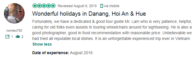 Wonderful holidays in Danang, Hoi An & Hue