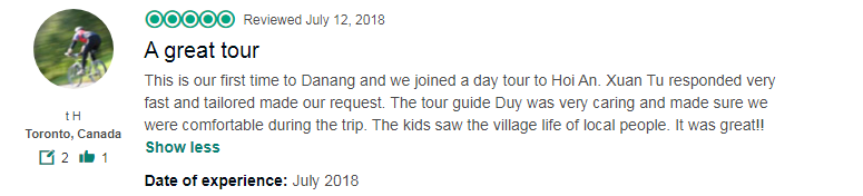 A great tour