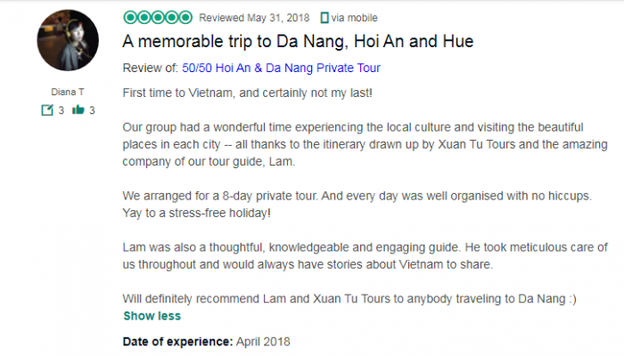 A memorable trip to Da Nang, Hoi An and Hue