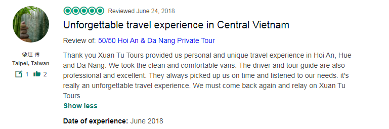 Unforgettable travel experience in Central Vietnam