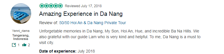 Amazing Experience in Da Nang