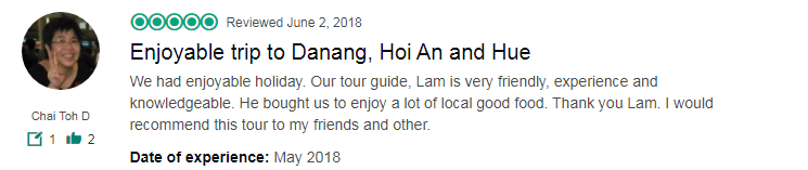 Enjoyable trip to Danang, Hoi An and Hue
