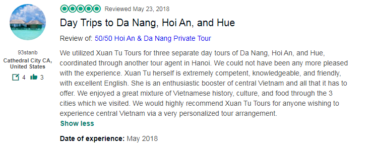 Day Trips to Da Nang, Hoi An, and Hue