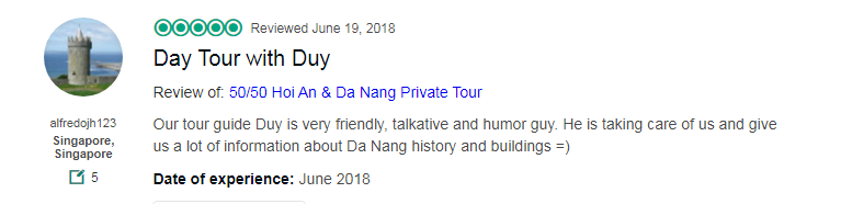 Day Tour with Duy